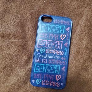 Coach iphone 5s case